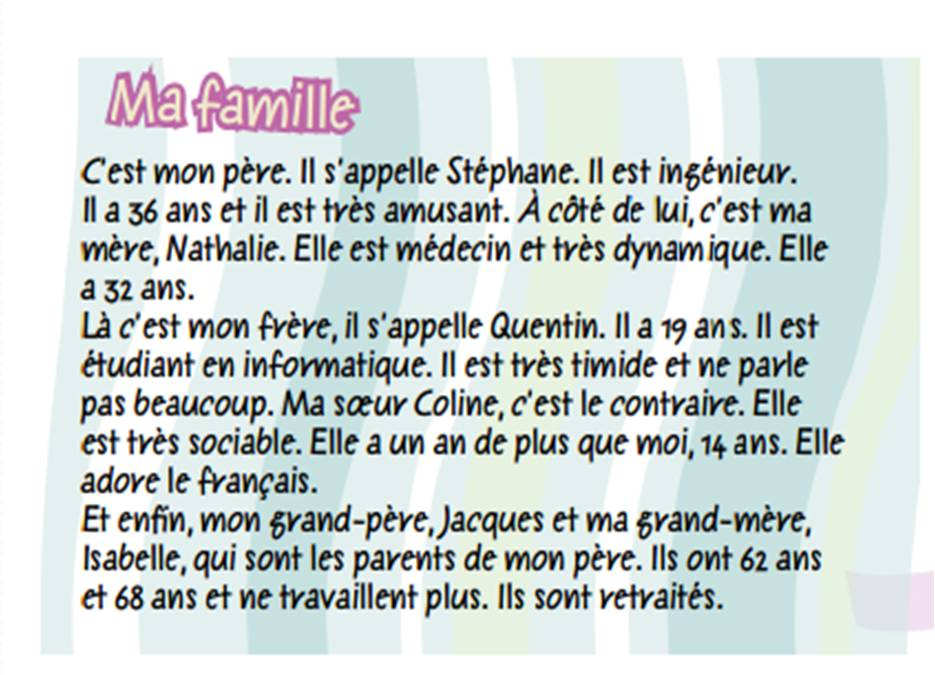 ma famille Ma famille (french: my family) is an ivorian television series cast wabehi am lie akissi delta cl mentine papouet michel gohou nastou traor oupoh dahier.